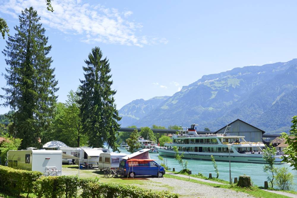TCS Camping Interlaken, Switzerland: located right on the shores of the river Aare.
