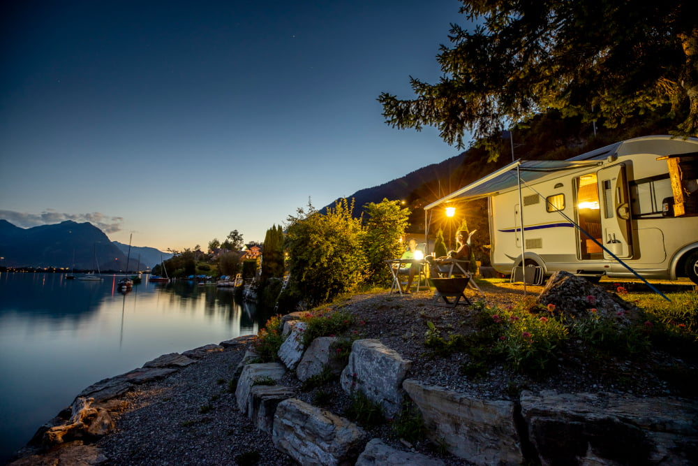 Camping Au Lac, Ringgenberg, Switzerland: a small campsite located at Lake Brienz.